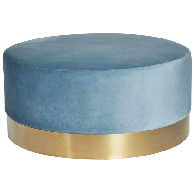 Melrose Sky Blue Ottoman-Ottomans-Canvas & Sasson-OPUS Design