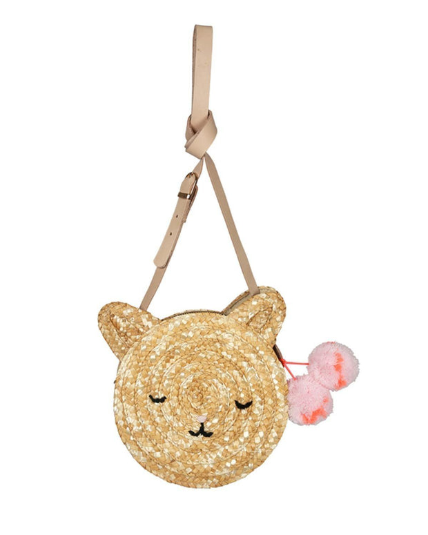 Meri Meri Cat Raffia Bag-Kids Accessories-Meri Meri-OPUS Design