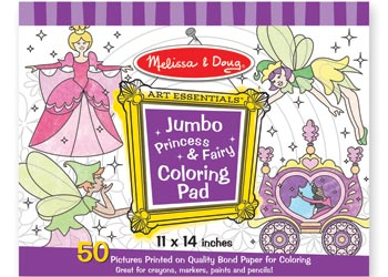 Jumbo Colouring Pad - Princess & Fairy