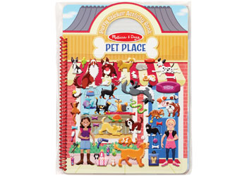Reusable Puffy Sticker Act Bk -Pet Place