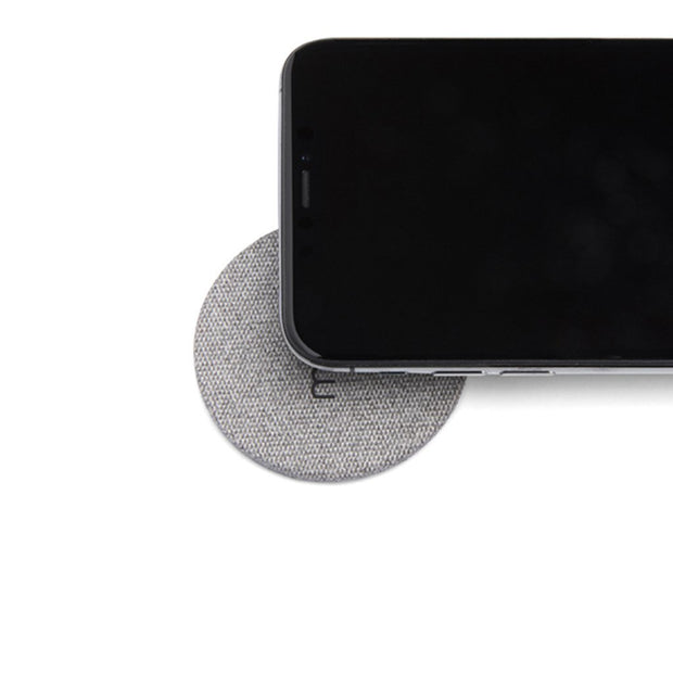 Moon - Wireless Charging Pad - Grey Fabric