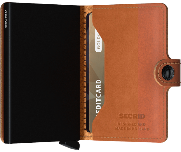 Secrid Miniwallet - Cognac Perforated