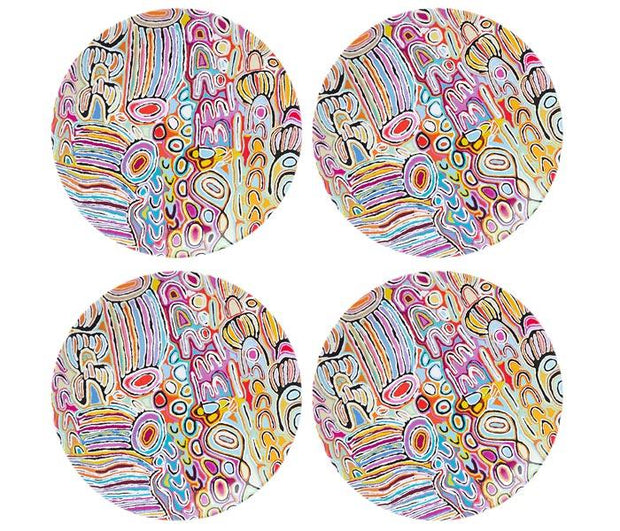 ALPeRSTeIN DeSIGNS Judy Watson Plate Set (Set of 4)