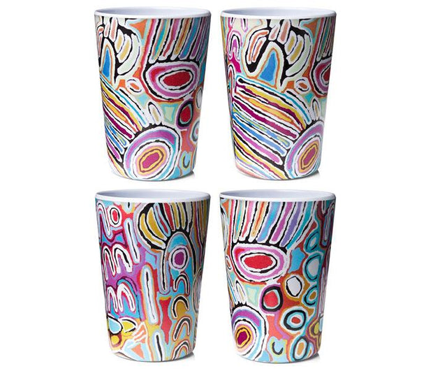 ALPeRSTeIN DeSIGNS - Judy Watson Melamine Tumblers (Set Of 4)