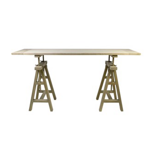 Oak Architect'S Console Trestle-Side Tables-Other-OPUS Design