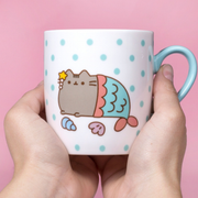 Pusheen Sock in a Mug - Mermaid