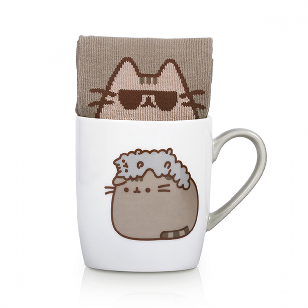 Pusheen Sock in a Mug - Stormy