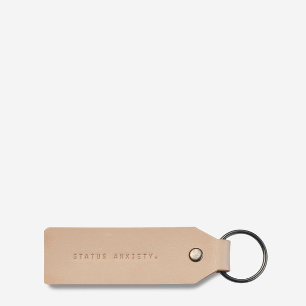 Status Anxiety - If I Stay Keyring: Tan