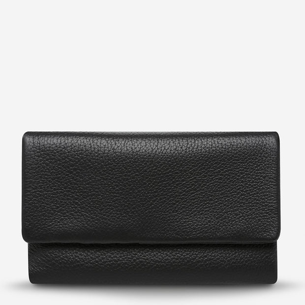 Status Anxiety - Audrey Wallet: Black Pebble