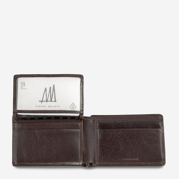 Status Anxiety - Nathaniel Wallet: Chocolate