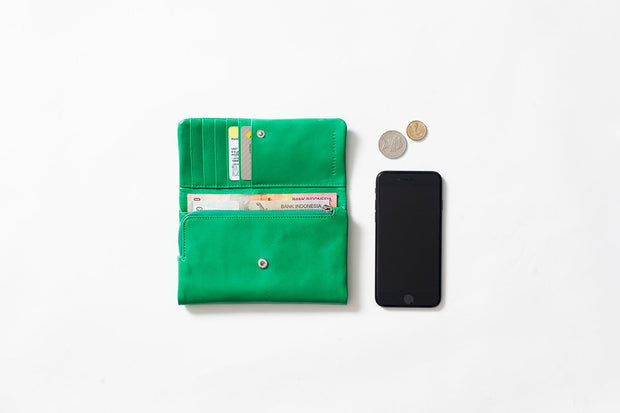 Status Anxiety - Audrey Wallet: Emerald