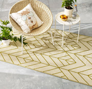 Kirribilli Gold & Cream Plastic Rug