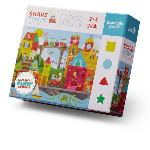 Crocodile Creek - 24pc Puzzle: Early Learning Shape Town