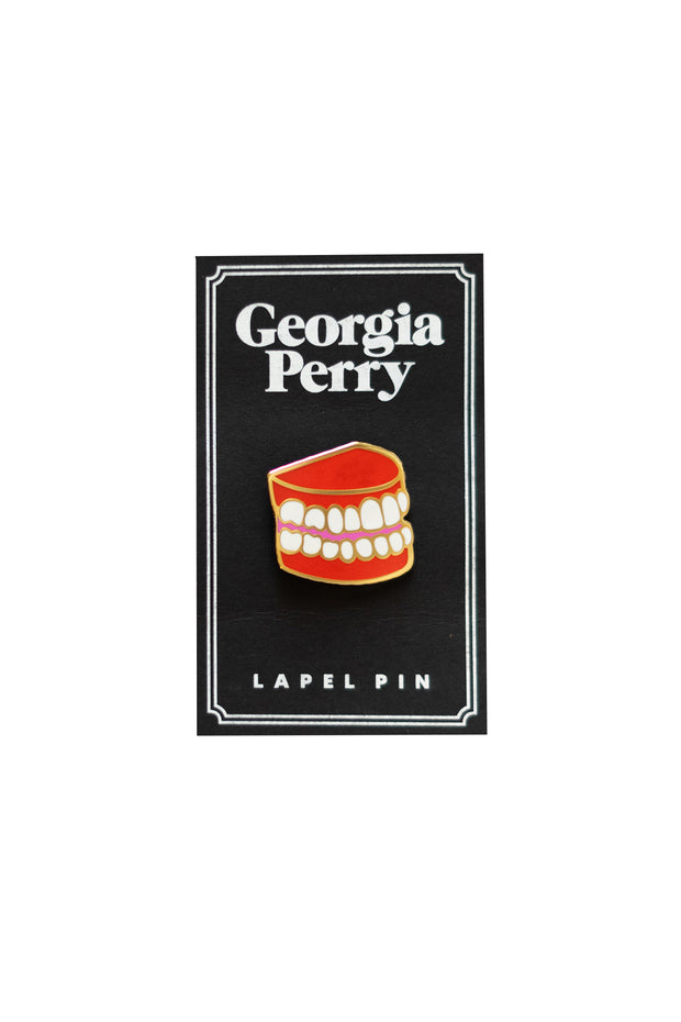Georgia Perry - Teeth Enamel Pin