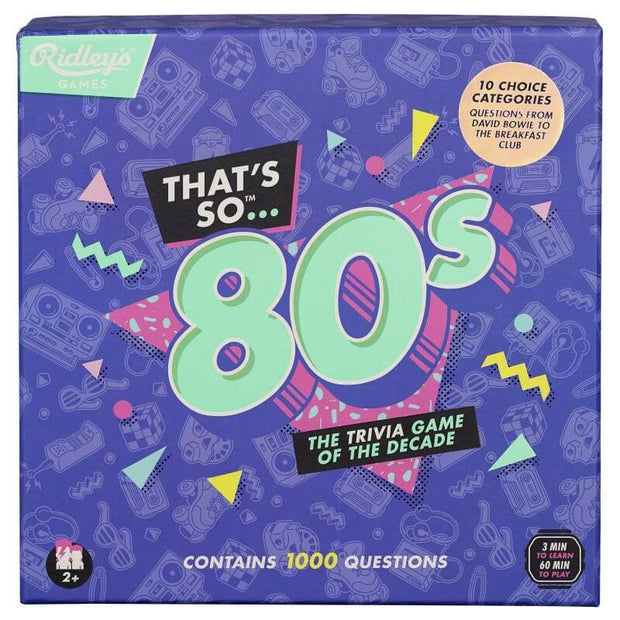 Ridley's - That's So 80's Quiz