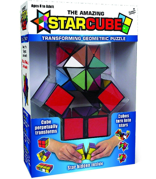 The Amazing Star Cube: 2 Piece Transforming Geometric Puzzle-Games-Winning Moves-OPUS Design