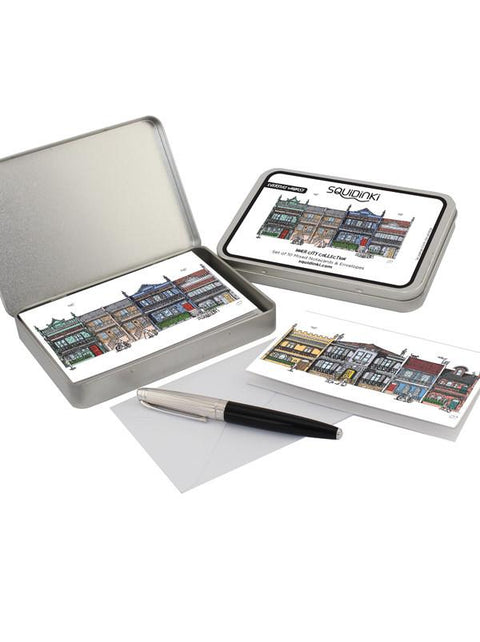 Squidinki - Inner City Collection Tin (10 Cards and Envelopes)