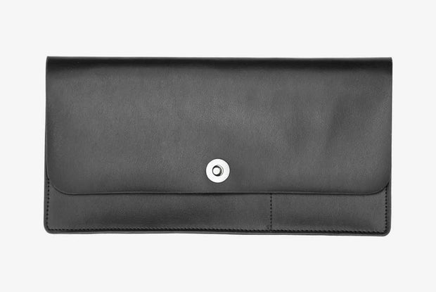 Corban & Blair -Leather Travel Wallet - Black