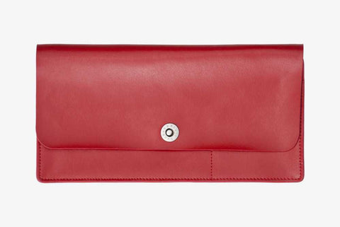 Corban & Blair - Leather Travel Wallet - Red