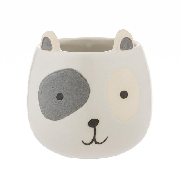 Spotty Dog Pot - White
