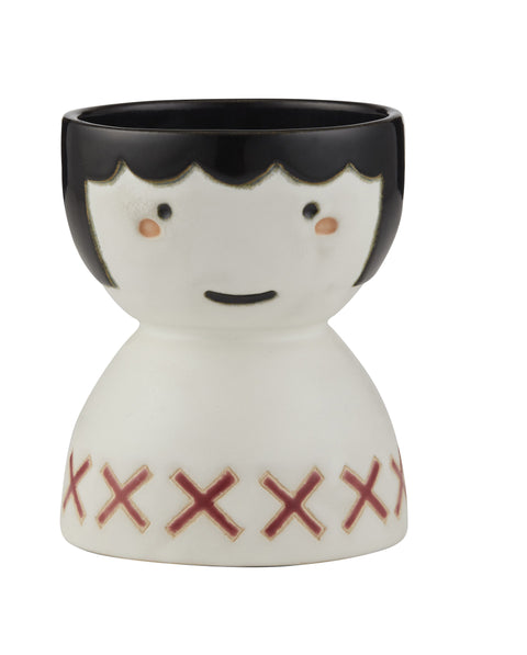 Poppy Face Vase - Red
