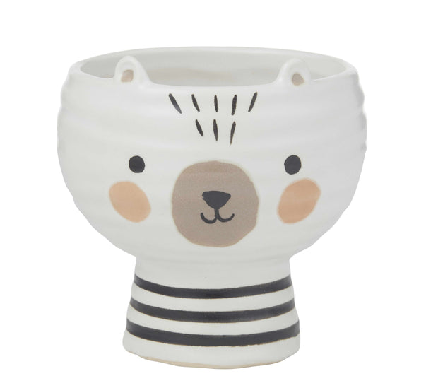 Olli Bear Pot - White