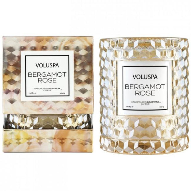 Voluspa Icon Cloche Candle-Candles-Voluspa-Bergamot Rose-OPUS Design