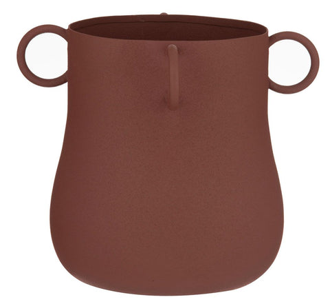 Sedona Vessel Planter Pot -Rust