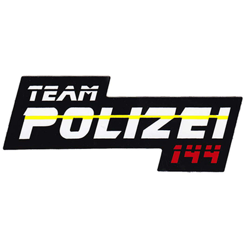 "Team Polizei 144 Mini Sticker - 1 1/4"" x 3 1/4"""