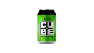 Cube sour apple soda pop
