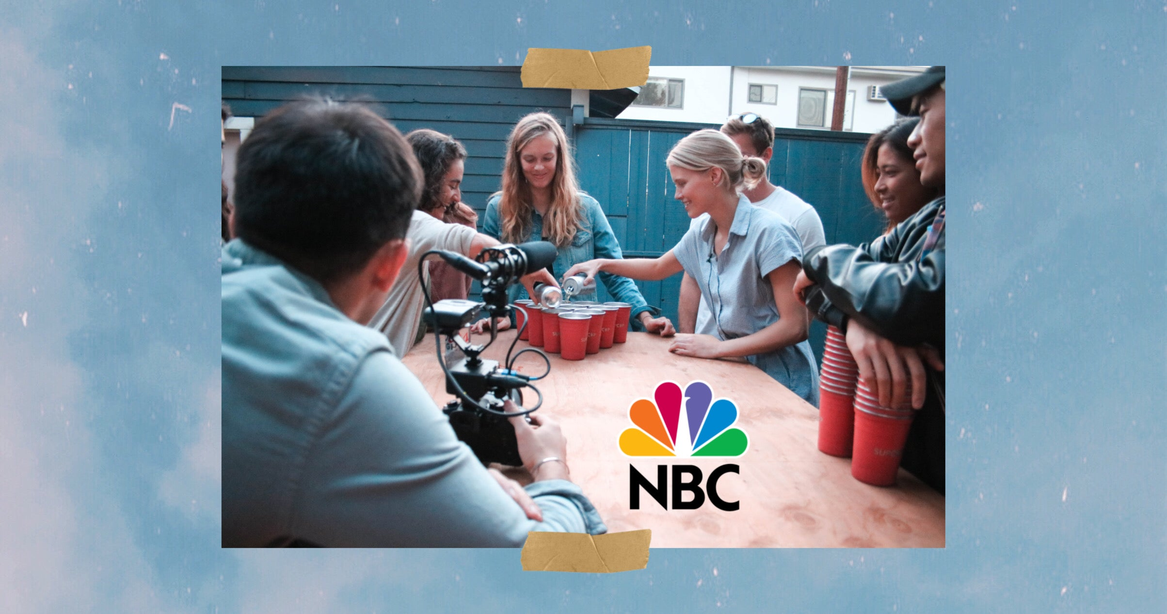 NBC filming around a table