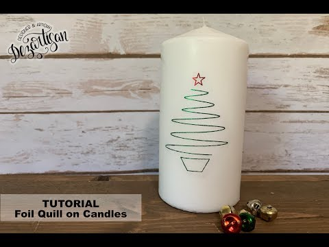 Use your Foil Quill to decorate candles