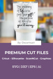 19DZA1000 The meaning of Life Premium Cut files for your Cricut or Silhouette Cutting Machines. File formats include SVG | DXF | EPS | Ai.