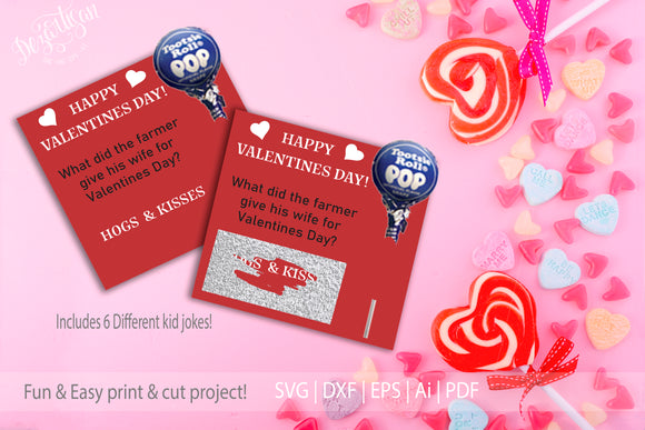 Scratch Off Kids Valentine Party Valentine Jokes  SVG | DXF | PDF File