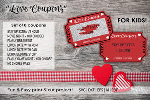 20DZA2004 Valentine's Day Love Coupon  Premium Cut files for your Cricut or Silhouette Cutting Machines. File formats include SVG | DXF | EPS | Ai.