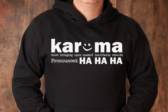 20DZA2019 Karma Pronounced Ha Ha ha Premium Cut File SVG for Cricut & Silhouette
