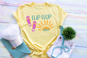 Flip Flop Time SVG | DXF Cricut Silhouette Cut Files