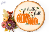 Hello Fall Premium Cut File for your Cricut & Silhouette Cutting Machines. File Formats are SVG | DXF | EPS | Ai