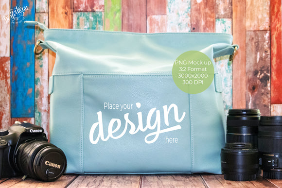 Photography Camera Bag PNG Mock Up 3:2 Format