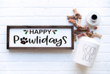 Happy Pawlidays SVG and DXF cut ready files for Cricut & Silhouette