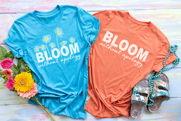Bloom without Apology Premium SVG and DXF cut ready files for Cricut & Silhouette