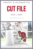 How Great Thou Art Premium SVG and DXF cut ready files for Cricut & Silhouette
