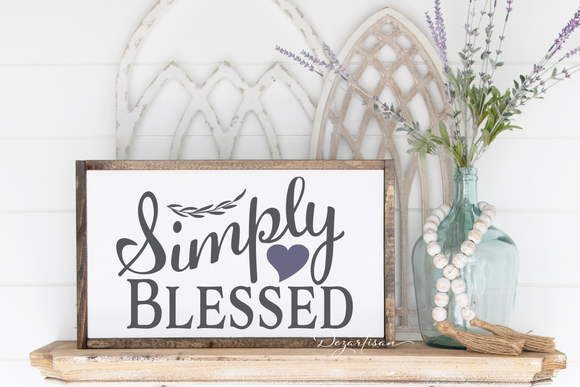 Simply Blessed Premium SVG and DXF cut ready files for Cricut & Silhouette