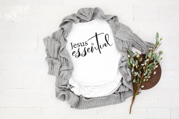 Jesus is Essential SVG and DXF cut ready files for Cricut & Silhouette