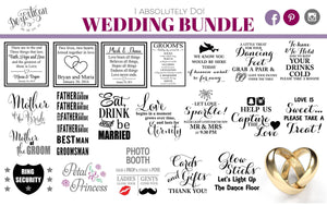 "Dezartisan Wedding Bundle ""I do"" Premium Cut files for your Cricut or Silhouette Cutting Machines. File formats include SVG 