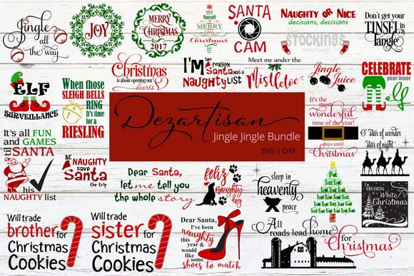 Jingle Jingle  Bundle SVG | DXF Cricut Silhouette Cut Files