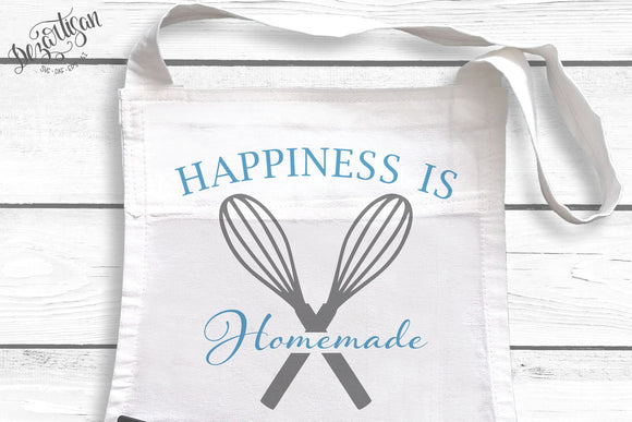 DZA0010C  Happiness is Homemade Premium Cut files for your Cricut or Silhouette Cutting Machines. File formats include SVG | DXF | EPS | Ai.
