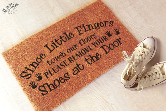 Since little fingers touch out floors Premium cut file SVG | DXF for Cricut & Silhouette
