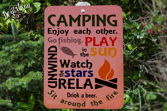 DZA0023 Camping Relax Fish SVG | DXF Cut File for Cricut & Silhouette Machines