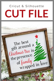 The Best Gifts Around Christmas Tree Premium Cut File for your Cricut & Silhouette Cutting Machines. File Formats are SVG | DXF | EPS | Ai